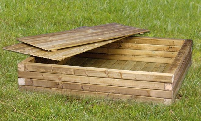 houten zandbak