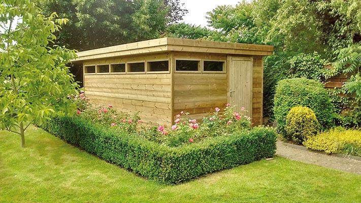 tuinhuis plat dak 4