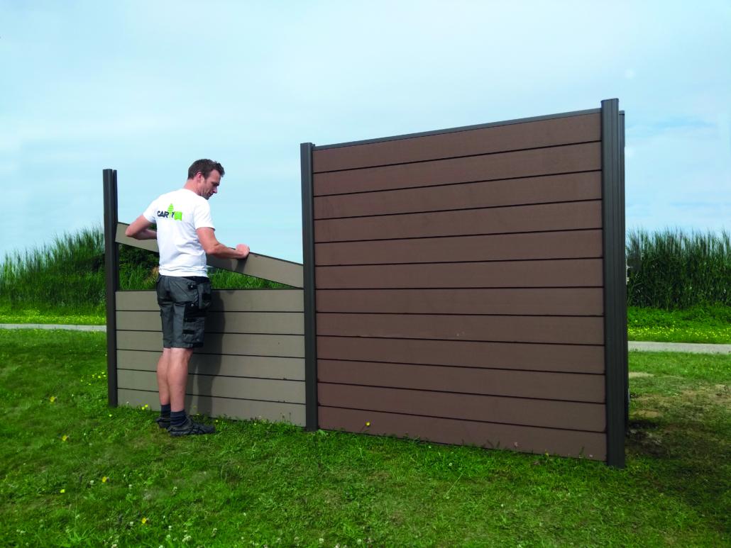 houtcomposiet scherm opbouw