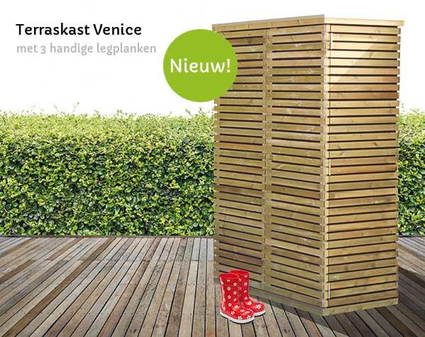 houten terraskast
