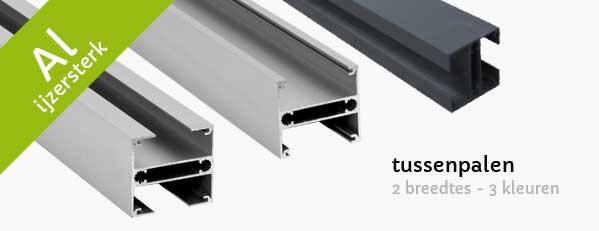 tussenpalen alluminium