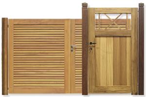 poorten in hout