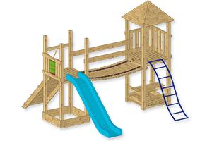 houten speeltoestellen