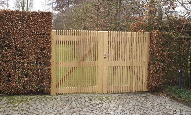 tuinpoort hout