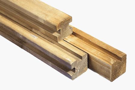 houten gleufpalen